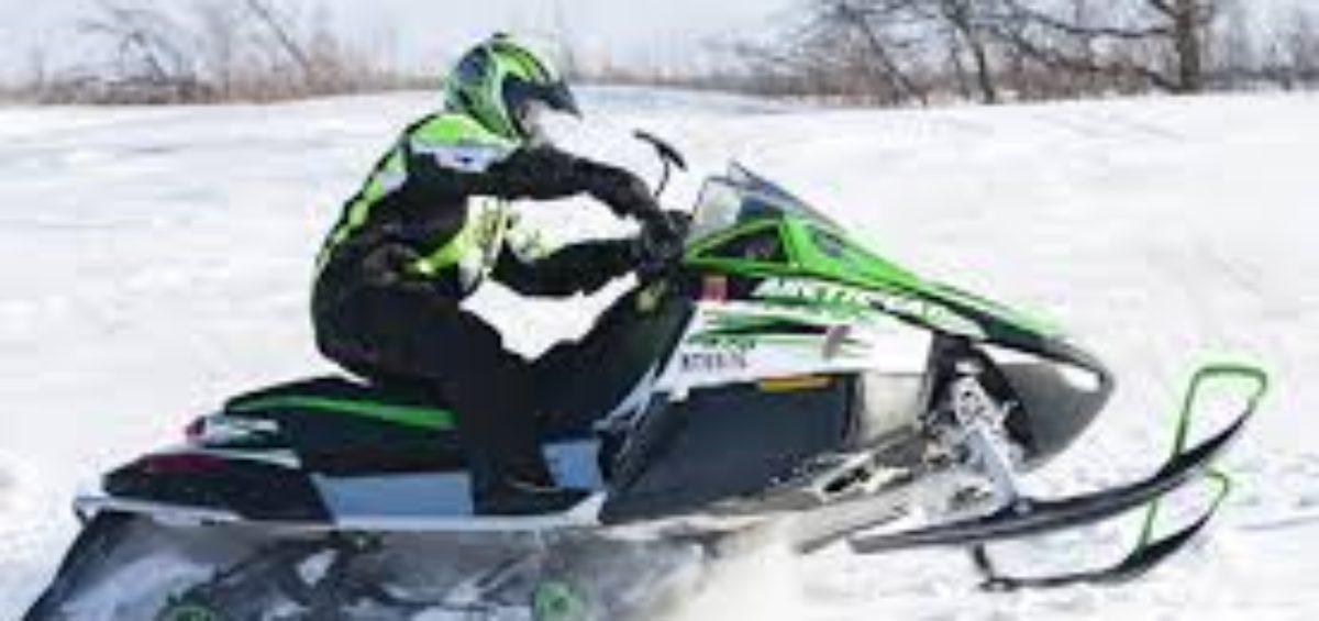 Snowmobiler Riding