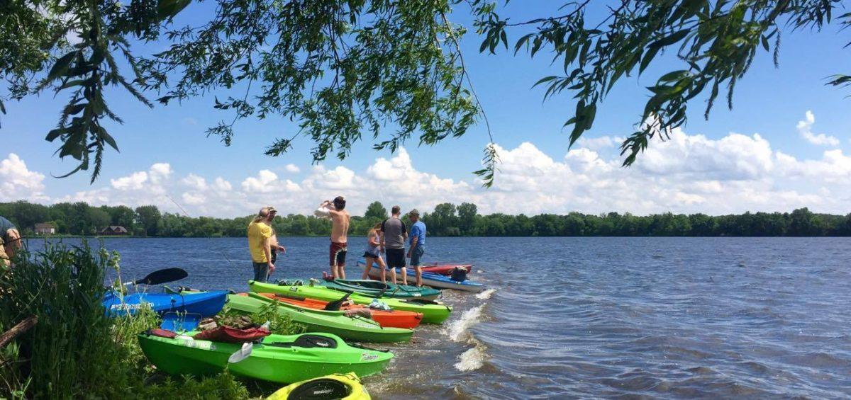 Kayaks on Faribault area lake.