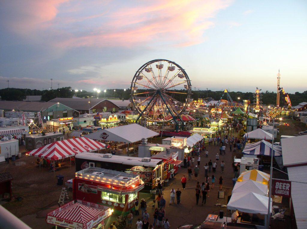 Rice County Fair at Dusk